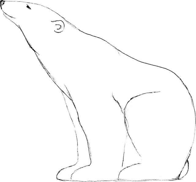 Sculpture d 39 un ours polaire cristallisations denis caraty - Dessiner un ours en maternelle ...